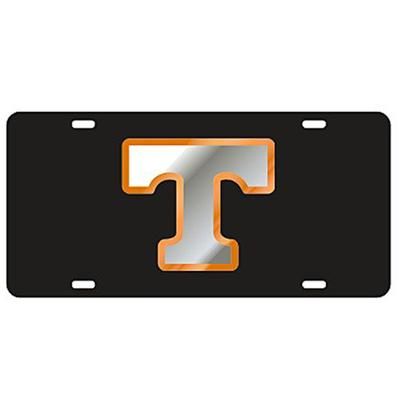 Tennessee Silver and Black Power T License Plate
