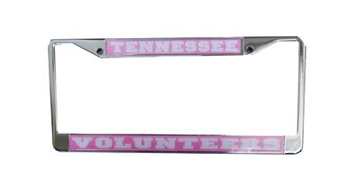 Tennessee Volunteers Pink License Plate Frame