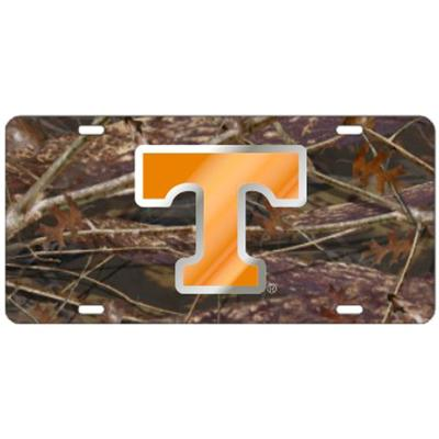 Tennessee Power T Camo and Orange License Plate
