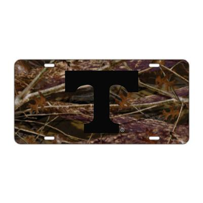Tennessee Power T Camo and Black License Plate