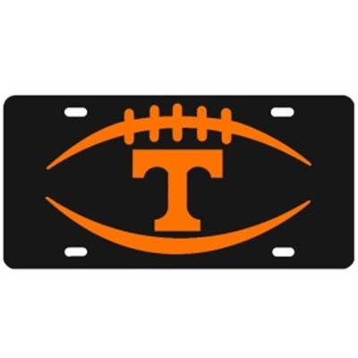 Tennessee Black and Orange Football and Power T License Plate