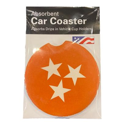 State of Tennessee Tristar Car Coaster