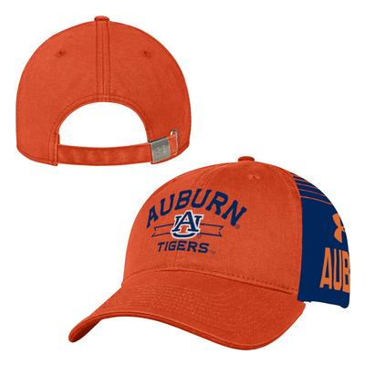 Auburn Under Armour Washed Cotton Adjustable Cap