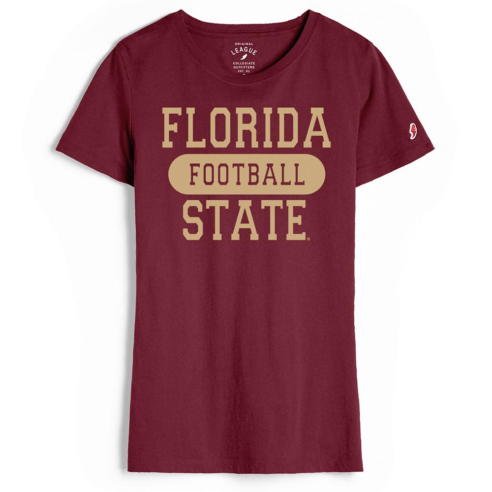 Florida State League Freshy Football V- Neck T- Shirt