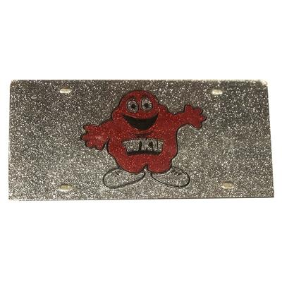 Western Kentucky Glitter Logo License Plate