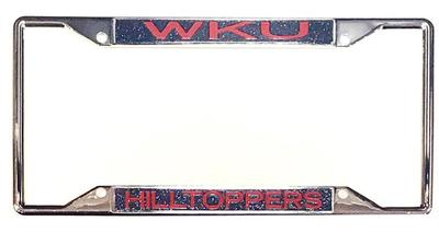 Western Kentucky Mirror Finish License Plate Frame