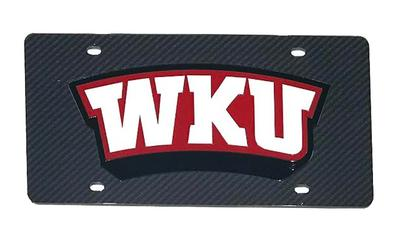 Western Kentucky Logo Carbon Fiber License Plate