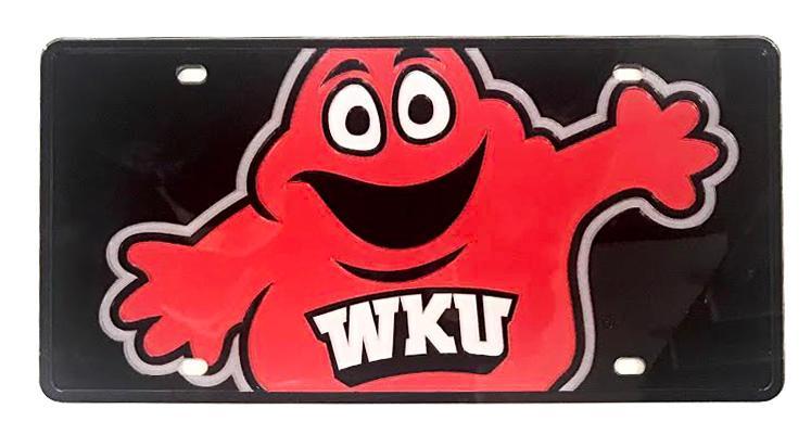 Western Kentucky Mega Logo License Plate