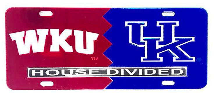 Wku/Uk House Divided License Plate