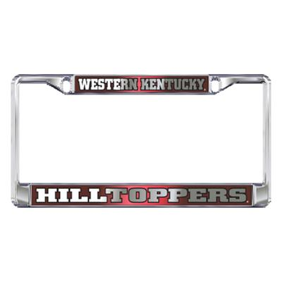 Western Kentucky Mirrored Finish License Plate Frame