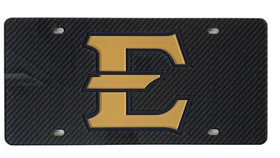 ETSU Carbon Fiber Logo License Plate