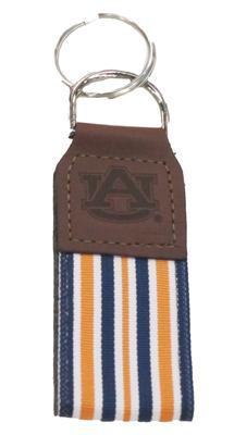 Auburn Leather Ribbon Key Chain