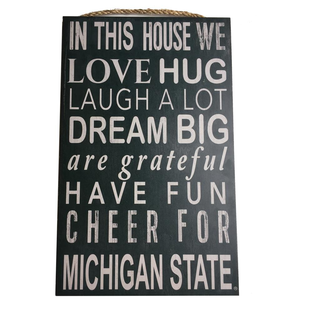 Michigan State Home Mantra Sign