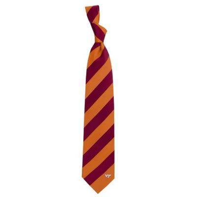 Maroon Regiment Stripe Tie