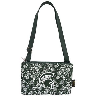 Michigan State Eagle Wings Bloom Crossbody Purse