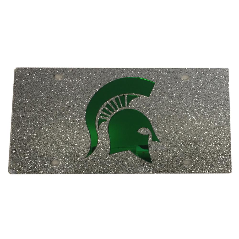Michigan State Glitter License Plate
