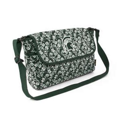 Michigan State Eagle Wings Bloom Messenger Bag