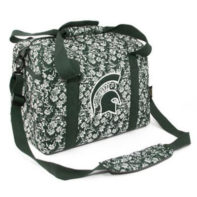 Michigan State Mini Duffle Bag Bloom Pattern
