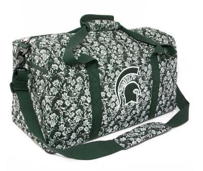 Michigan State Eagle Wings Bloom Large Duffle Bag