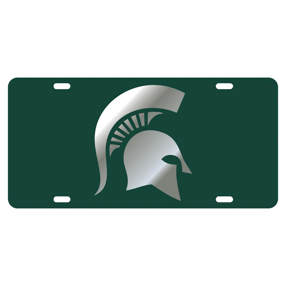 Michigan State Spartan Overlay License Plate