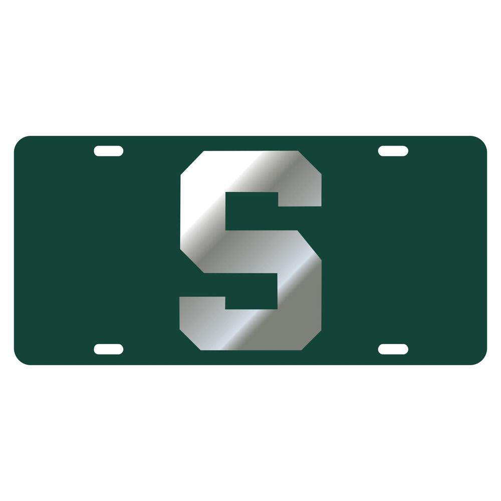 Michigan State Block S Logo License Plate