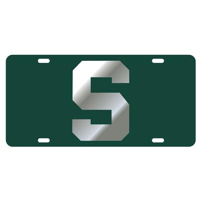 Michigan State Block S Logo License Plate