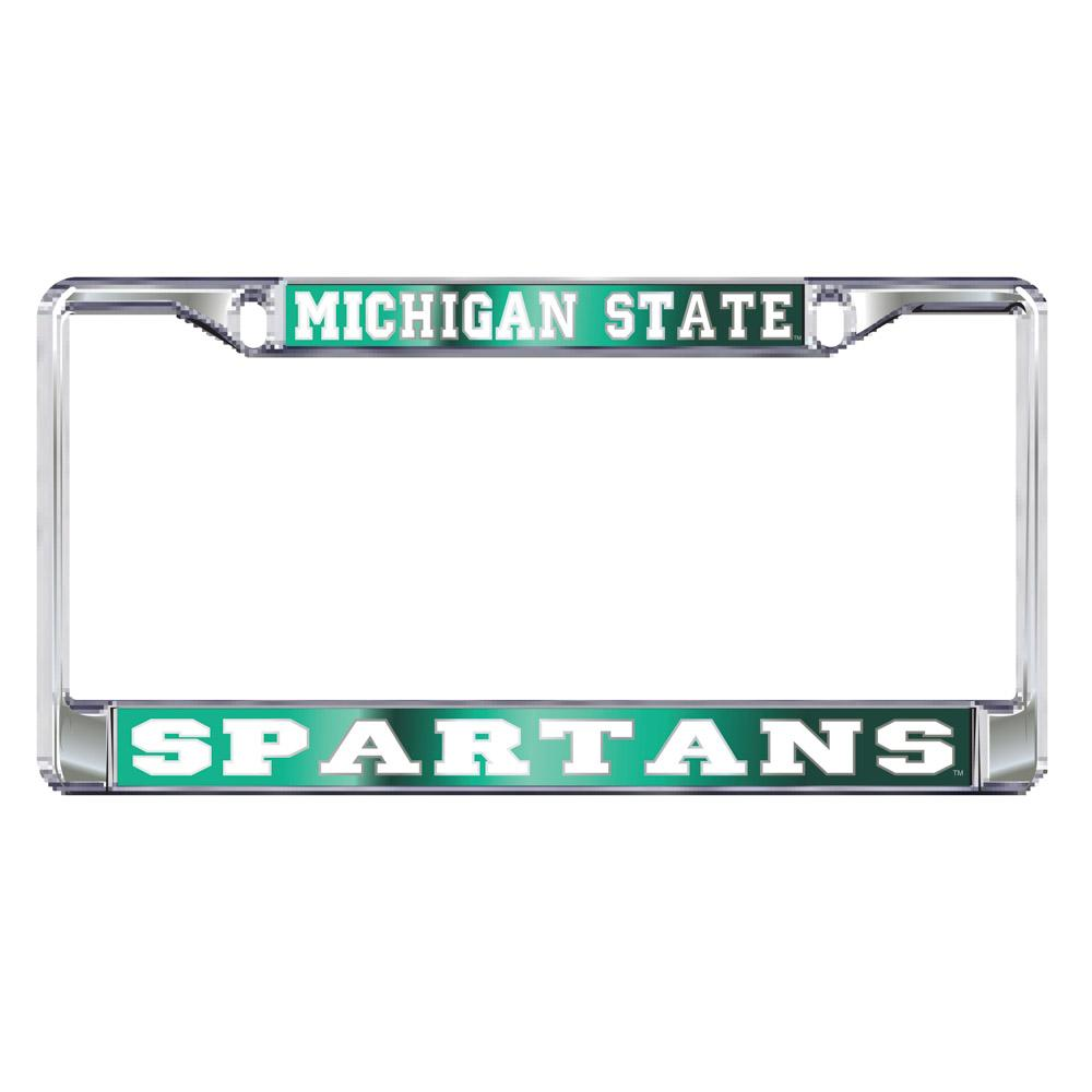 Michigan State Spartans Domed License Plate Frame