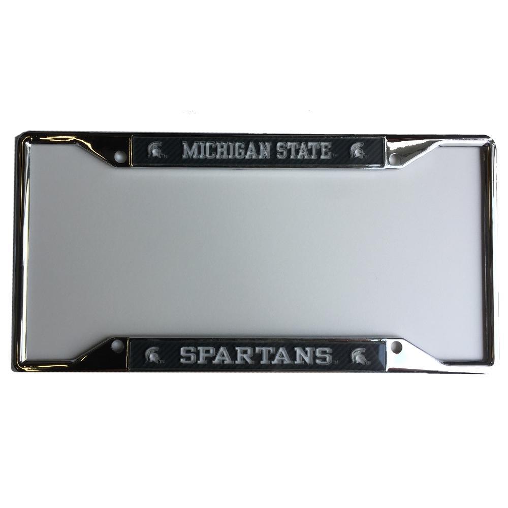 Michigan State Carbon Fiber License Plate Frame
