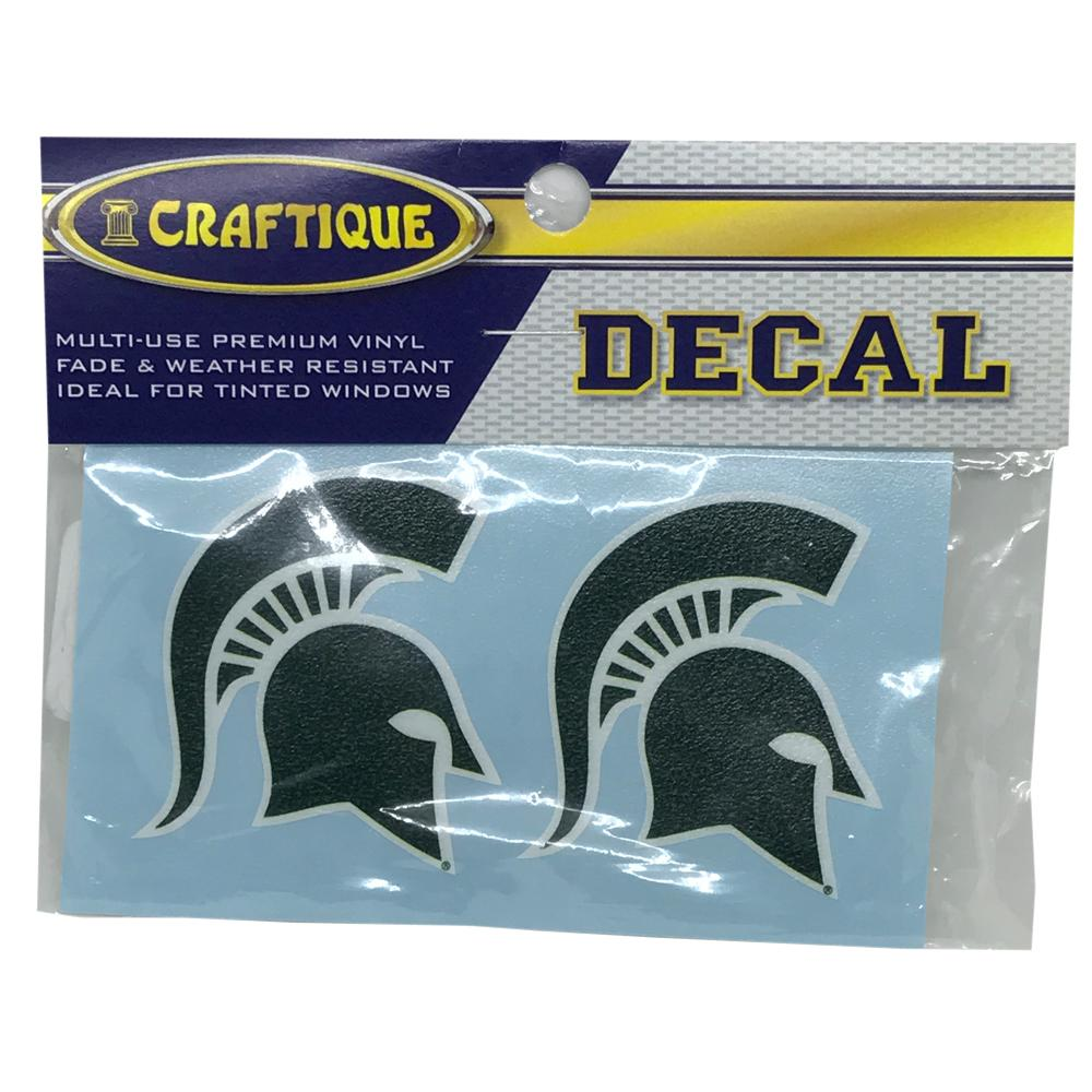 Michigan State Spartan Helmet Logo Decal (2 Pack)
