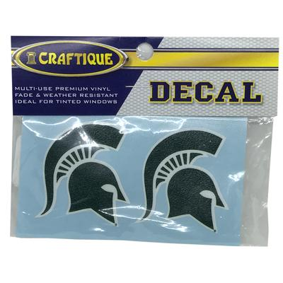 Michigan State Spartan Helmet Logo Decal (2 Pack)