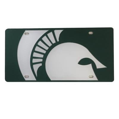 Michigan State Mega Logo License Plate