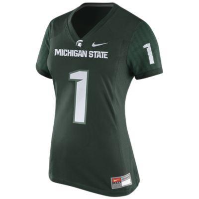 Michigan State Nike Women's Football Game Jersey #1