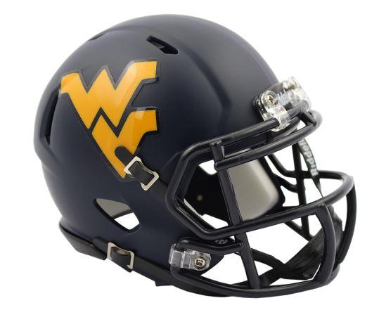 West Virginia Riddell Mini Speed Helmet