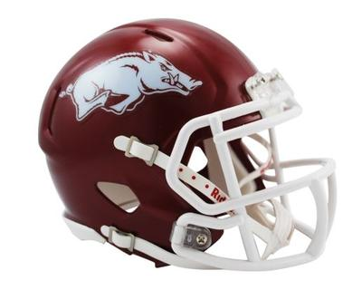 Arkansas Riddell Mini Speed Helmet