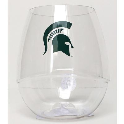 Michigan State Stemless Wine Glass 16oz