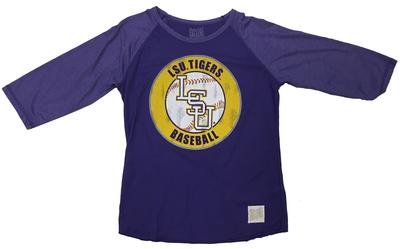 LSU Women's Long Sleeve Baseball Tee