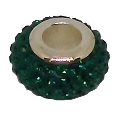 Green Crystal Spacer Bead