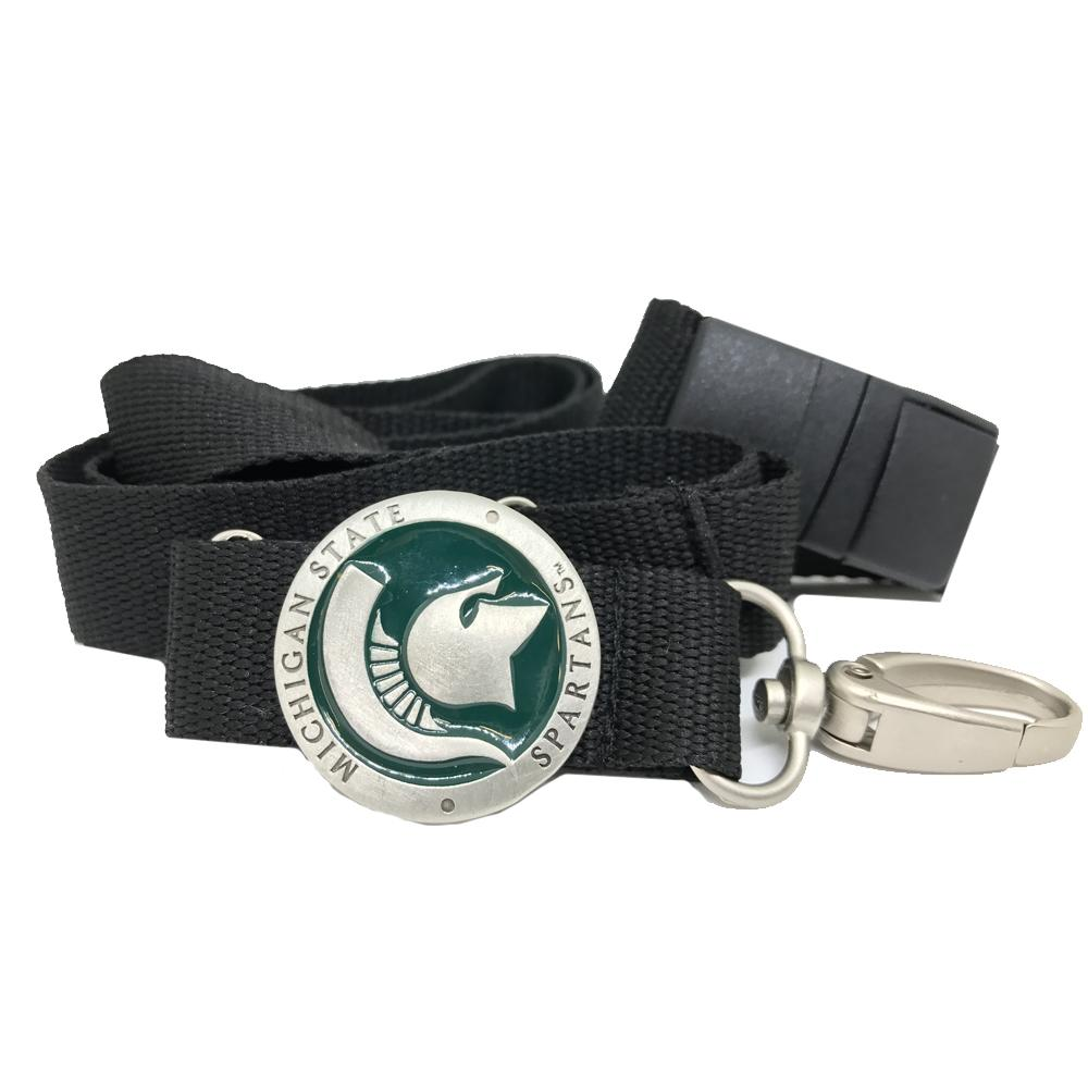 Michigan State Heritage Pewter Lanyard