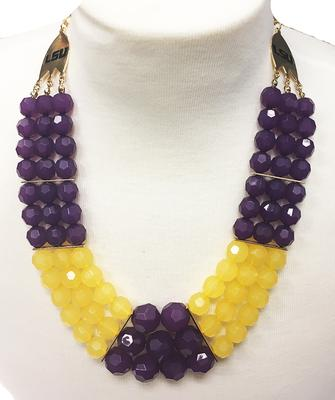 Purple and Gold Stadium Necklace