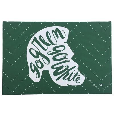 Go Green Go White Art Canvas (8