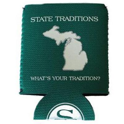 State Traditions State Of Michigan Coozie