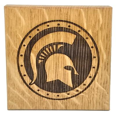 Michigan State Timeless Etchings Helmet Logo Coasters W/ Bottle Opener (4 pack)