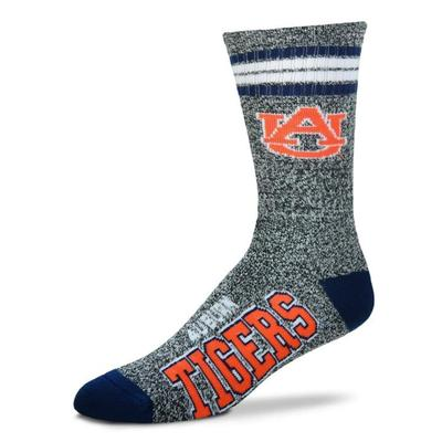 Auburn 4-Stripe Marbled Deuce Sock