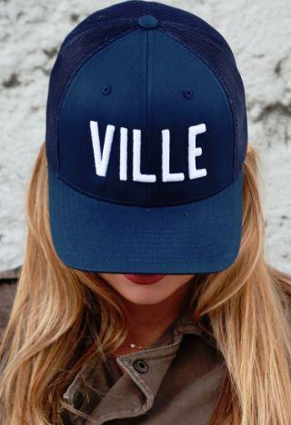 Ville Navy Adjustable Trucker Hat