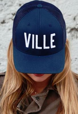 VILLE Navy Adjustable Trucker Hat