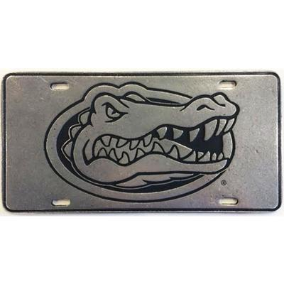Florida Pewter Metal Gator Head License Plate