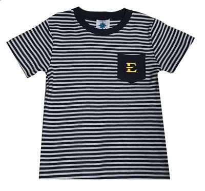 ETSU Toddler Striped Pocket Tee