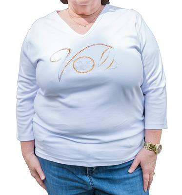 Tennessee Plus Size Women's 3/4 Sleeve Vols Tristar Top