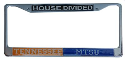 House Divided Tennessee/MTSU License Plate Frame
