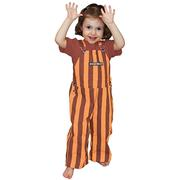 Maroon And Orange Toddler Game Bibs Striped Overalls